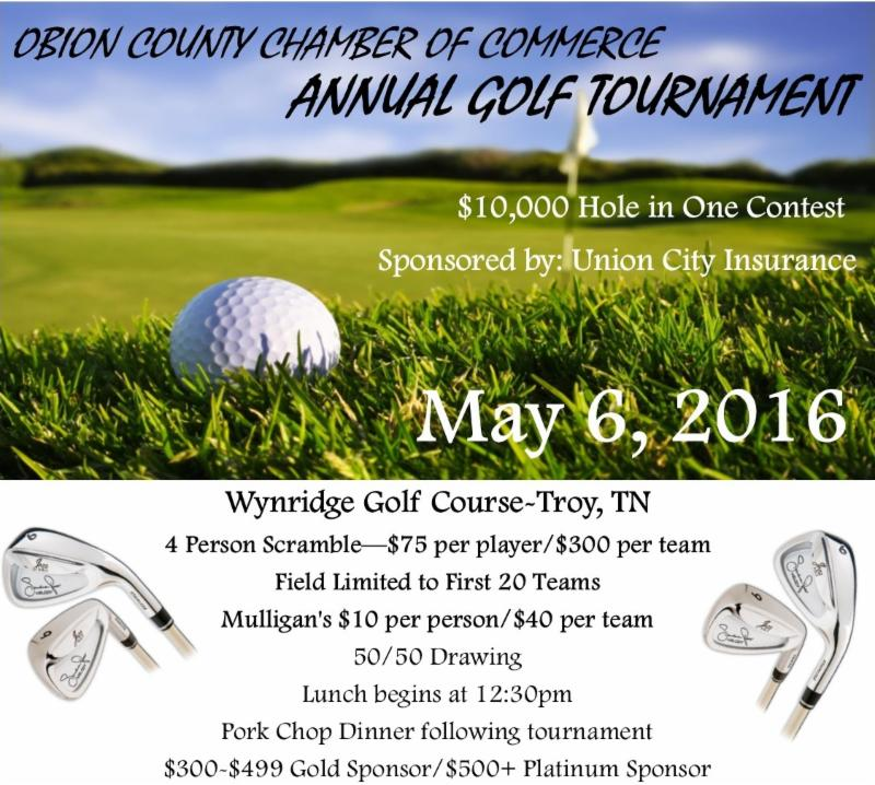 2016 Annual Obion County Chamber of Commerce/Industrial Development golf tournament